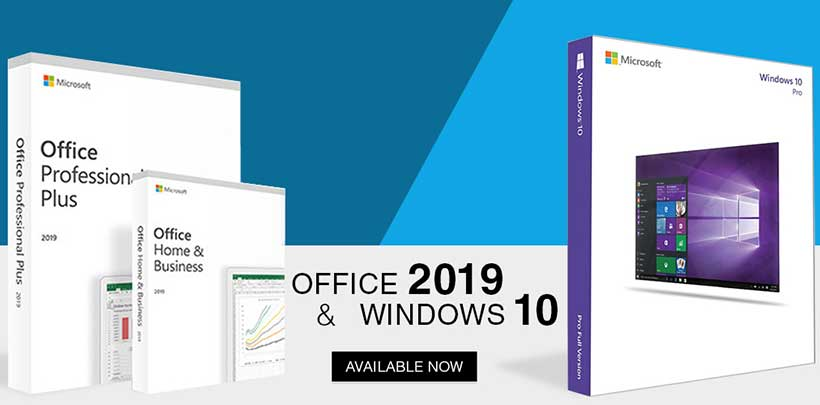 Windows 10 and Office 2019 banner